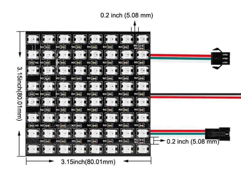 8cm_8cm_64_LEDs_WS2812B_Rigid_Digital_1