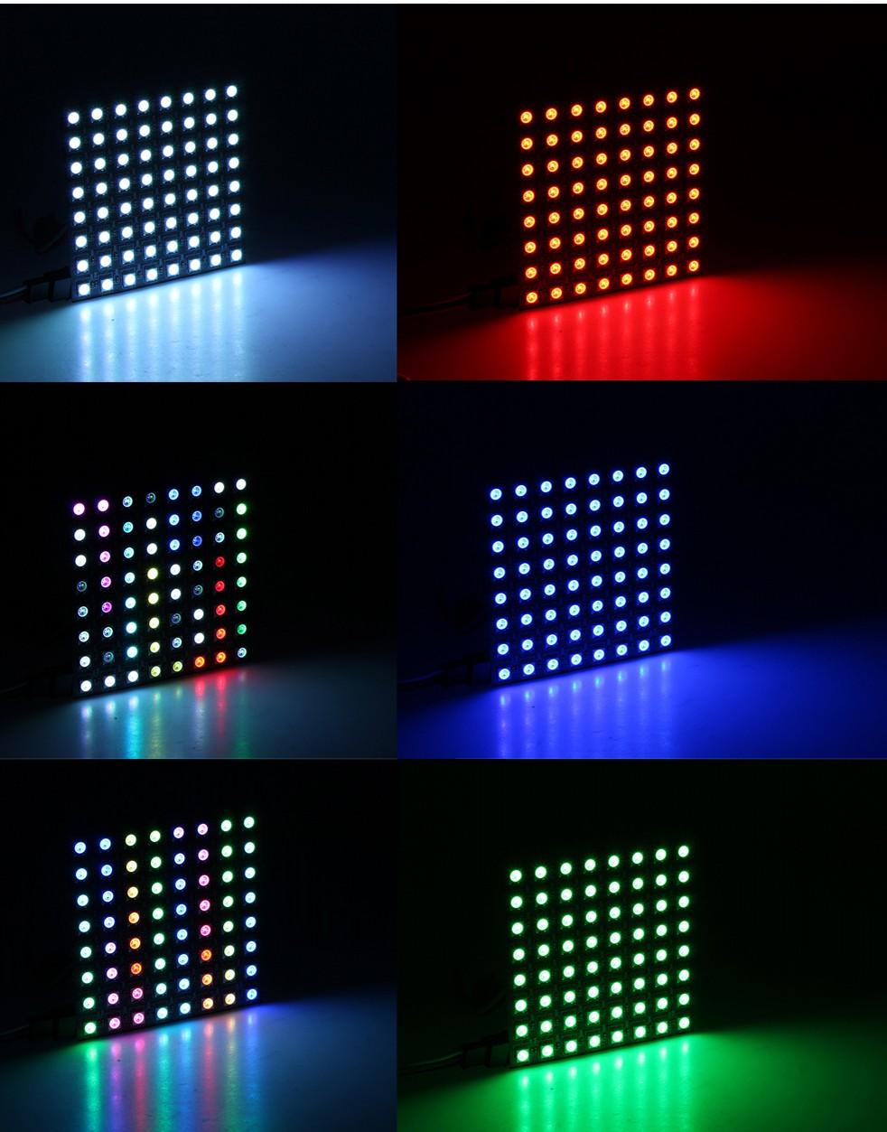 8cm_8cm_64_LEDs_WS2812B_Rigid_Digital_4