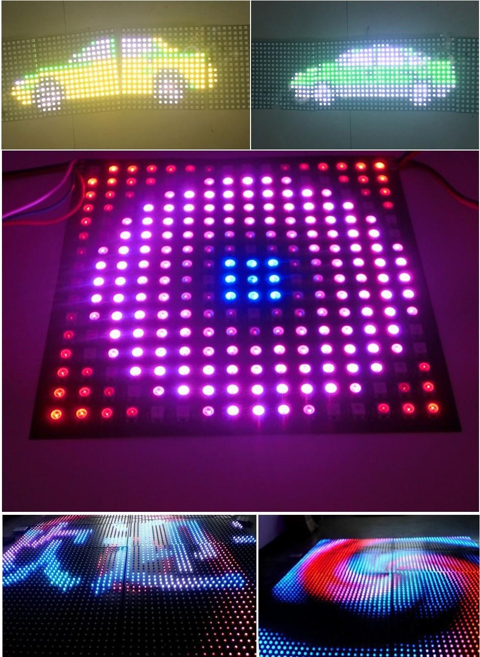 8cm_8cm_64_LEDs_WS2812B_Rigid_Digital_5