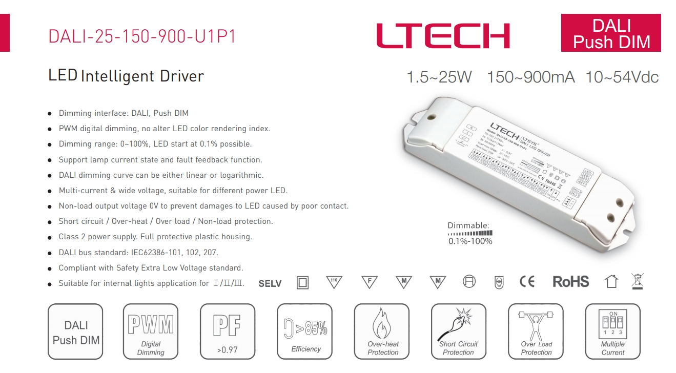 LTECH_DALI_25_150_900_U1P1_CC_DALI_Dimmable_Driver_1