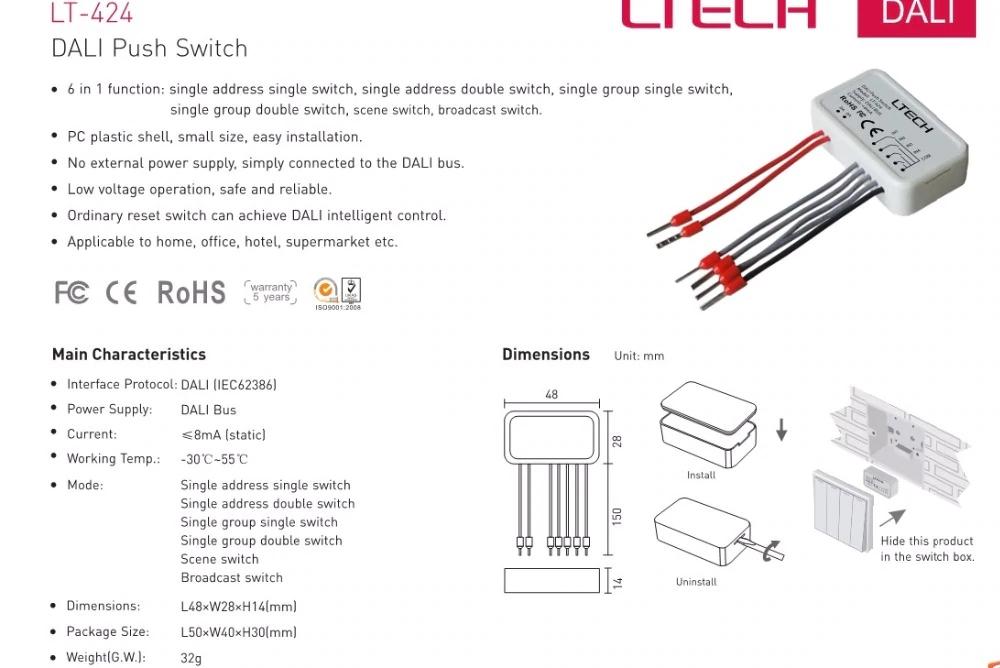 LTECH_DALI_Master_Controller_LT424_1