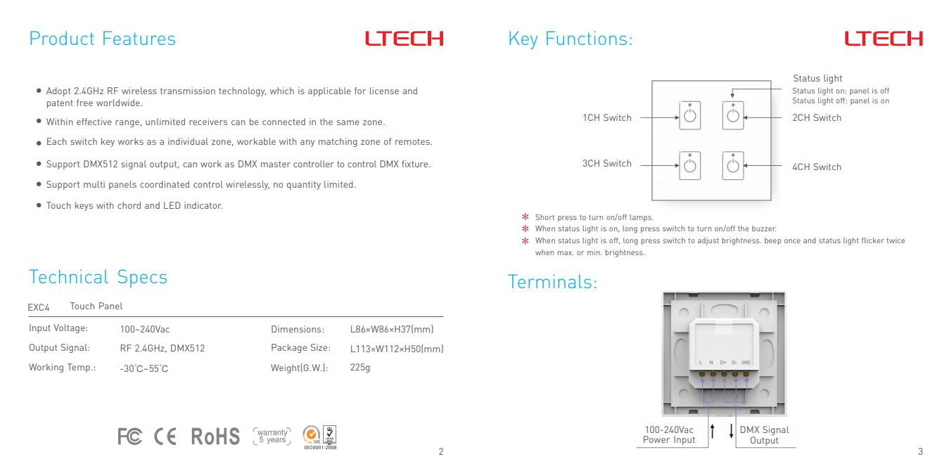 LTECH_DMX512_Master_Controller_EXC4_2